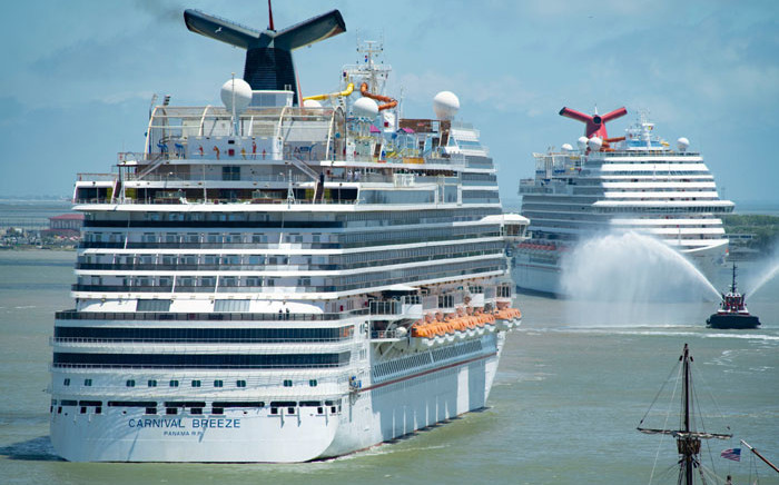 Carnival Cruise Line ships. Picture: @CarnivalCruise/Twitter