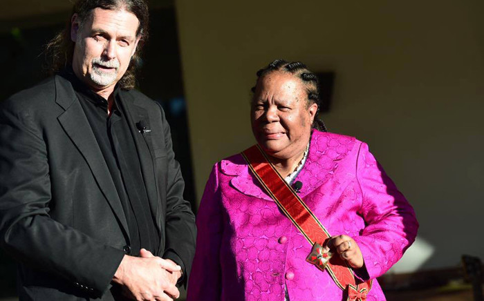 German ambassador to South Africa Walter Lindner presented the Order of Merit to Minister of Science and Technology Naledi Pandor. Picture: Department of Science and Technology Facebook page.