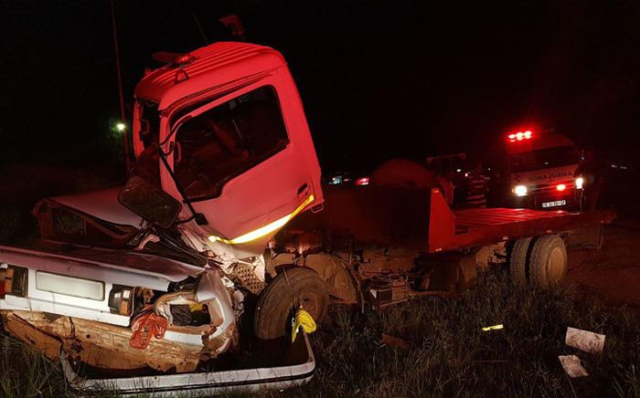 Three people were killed in an accident in Tzaneen, Limpopo on Saturday 3 February when a truck collided with a light motor vehicle. Picture: Twitter/@ER24EMS