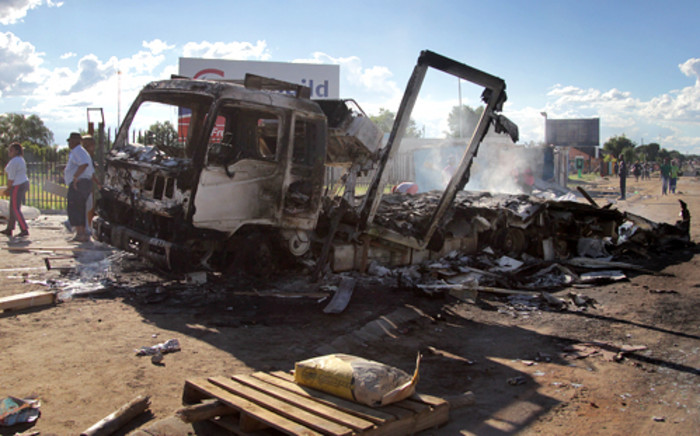 Aftermath of the violent protests in Sasolburg on 21 January 2013. Picture: Sebabatso Mosamo/EWN