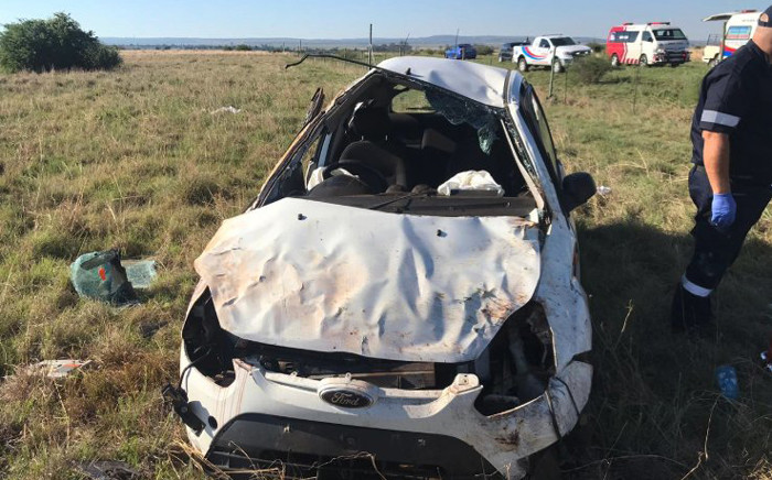 Vehicle rollover leaves one dead, six injured in Carletonville. Picture: ER24.