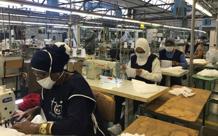 Textile workers at Trade Call Investments Apparel in Epping produce personal protection equipment as they do their bit to help curb the spread of COVID-19. Picture: Jarita Kassen/EWN