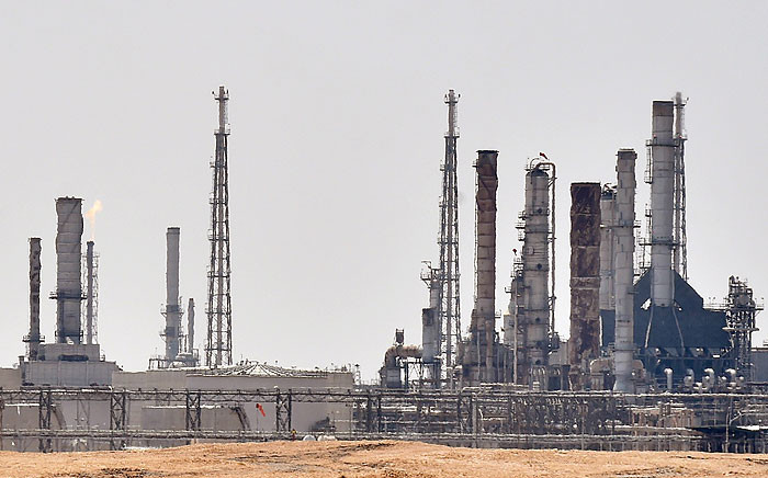 An Aramco oil facility near al-Khurj area, just south of the Saudi capital Riyadh. Picture: AFP