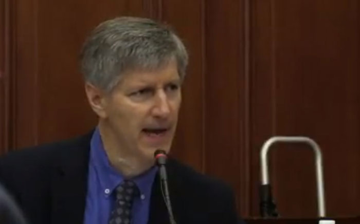 A screengrab of neurologist James Butler testifying in the Western Cape High Court on 27 November 2017.