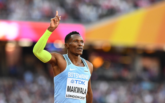 Botswana's Isaac Makwala reacts after the semi-finals of the men's 400m athletics event at the 2017 IAAF World Championships at the London Stadium in London on 6 August 2017. Picture: AFP.