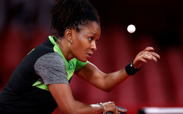 Nigeria's Funke Oshonaike is the first African woman to play in seven Olympics and the first woman to join the exclusive International Table Tennis Federation 'Club of 7'. Picture: @Olympics/Twitter.