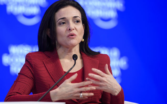 FILE: Facebook's Chief Operating Officer Sheryl Sandberg. Picture: AFP