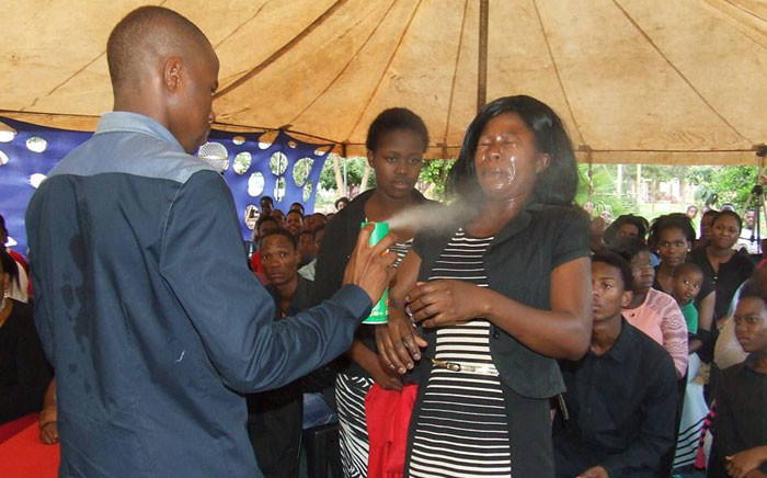 'Prophet' Lethebo Rabalago of the Mount Zion General Assembly Church insists the use of Doom is a healing method that can cure people suffering from various illnesses. Picture: Facebook.