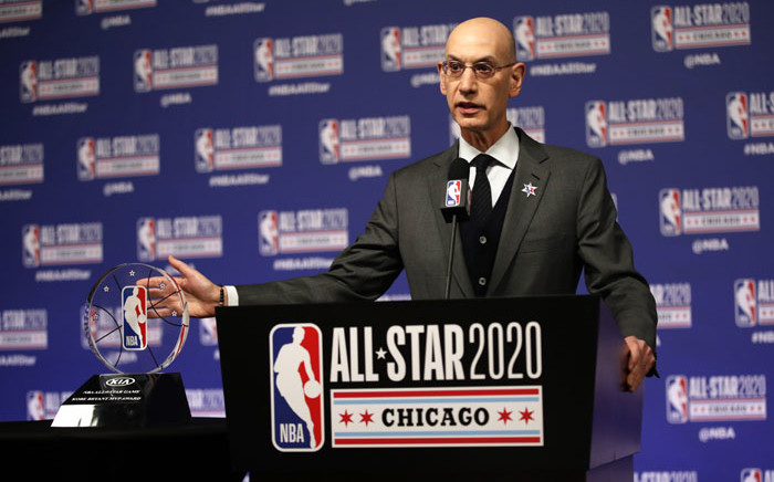 NBA Commissioner Adam Silver announces NBA All-Star Game MVP Trophy will honor Kobe Bryant during NBA All-Star Saturday Night Presented by State Farm as part of 2020 NBA All-Star Weekend on 15 February 2020 at United Center in Chicago, Illinois. Picture: AFP