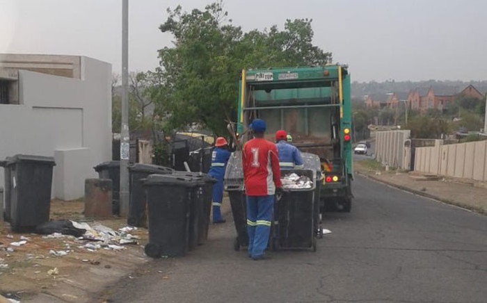 Pikitup staff at work on 6 September 2018. Picture: @CleanerJoburg/Twitter
