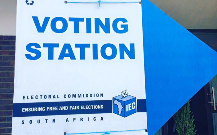 IEC voting station signage. Picture: Ian Bredenkamp/iWN.