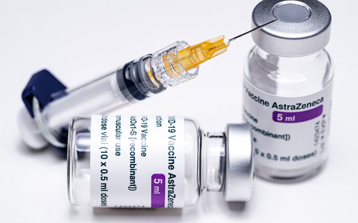 FILE: Vials of the AstraZeneca COVID-19 vaccine and a syringe. Picture: Joel Saget/AFP.