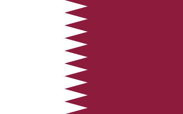 FILE: Flag of Qatar. Picture: Wikimedia Commons.