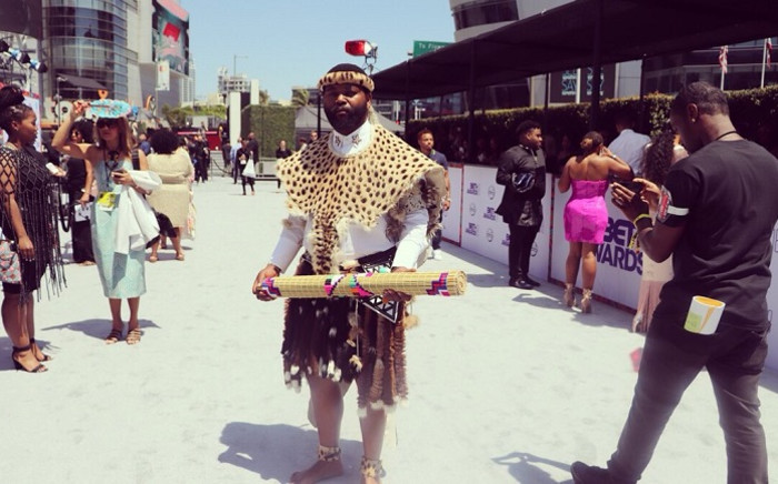 Sjava at the 2018 BET Awards. Picture: @BETAfrica/Twitter