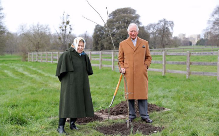 Prince Charles encouraged Britons to mark his mother's 70th year as queen by planting trees around Britain. Picture: Twitter/@RoyalFamily