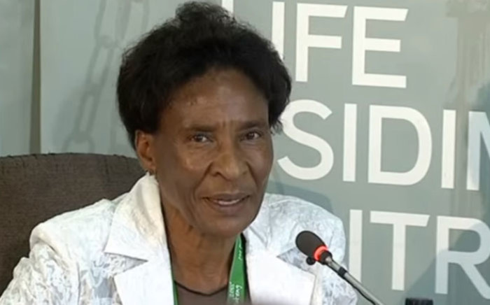 A screengrab of a witness giving testimony at the Esidimeni arbitration hearing on 18 January 2018.