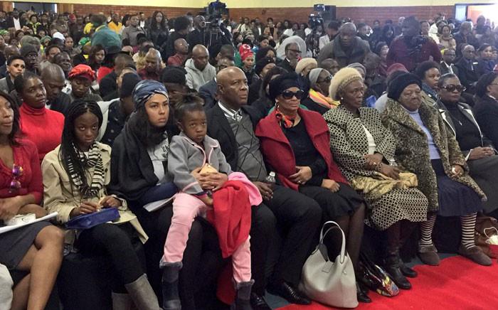 The close family of Karabo Mokoena during her memorial service in Diepkloof. Picture: Hitekani Magwedze/EWN.
