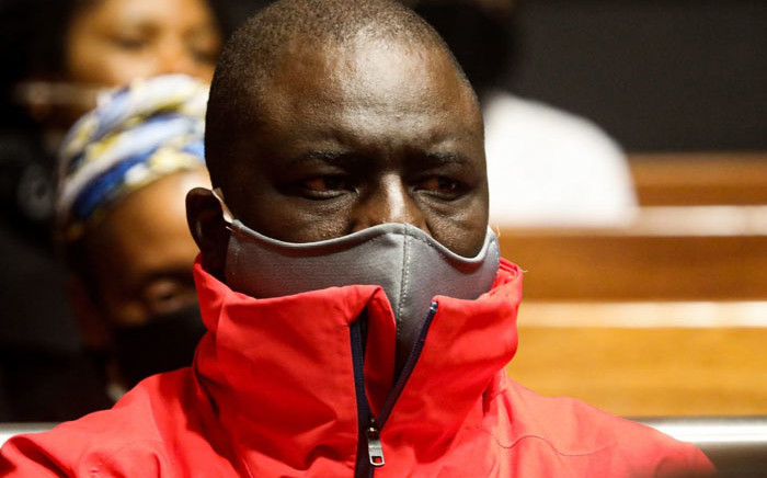 Former VBS Mutual Bank chair Tshifhiwa Matodzi appears in the Palm Ridge Regional Court on 18 June 2020 on various charges related to the theft of billions of rands from the bank. Picture:  Kayleen Morgan/EWN