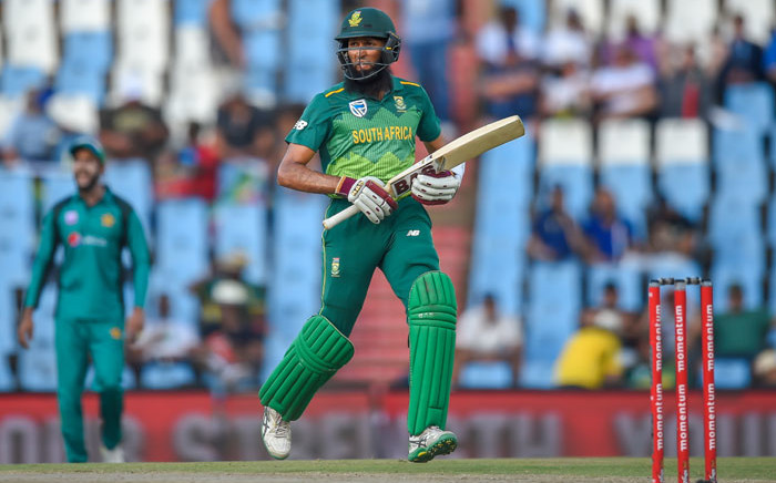 Proteas batsman Hashim Amla runs a quick single in an ODI match against Pakistan at the Supersport Park on 25 January 2019 in Centurion. Picture: AFP