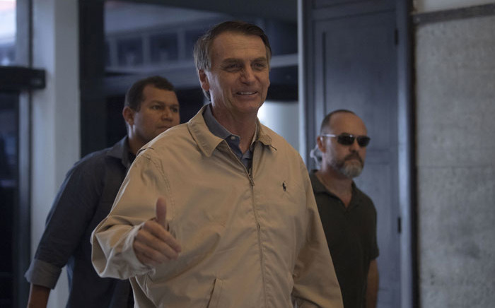 Brazilian presidential hopeful Jair Bolsonaro. Picture: AFP