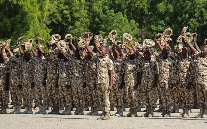 The Nigerian army. Pic: AFP