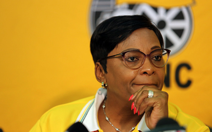 Minister of Water Affairs and Sanitation Nomvula Mokonyane speaking in her capacity as the ANC's campaign head at the party's National General Council on 11 October 2015. Picture: Reinart Toerien/EWN