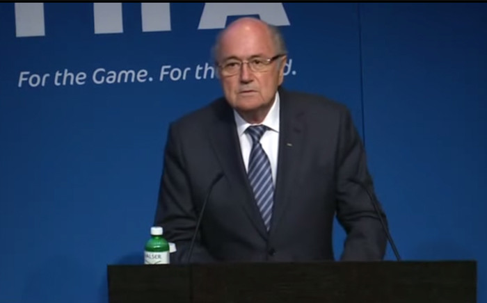Sepp Blatter, shocked the world on 2 June 2015 following the announcement that he will step down from his post as Fifa president. Picture: Fifa YouTube Channel.