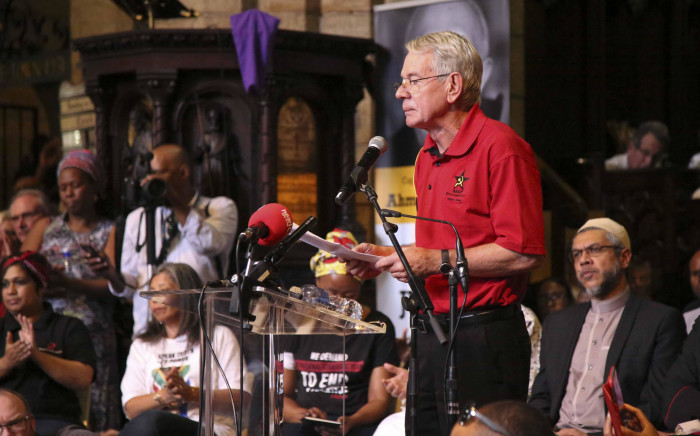 FILE: Deputy Public Works Minister and SACP first deputy general secretary Jeremy Cronin speaks at the Ahmed Kathrada memorial in Cape Town. Picture: Cindy Archillies/EWN