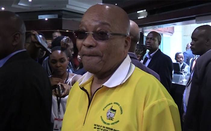 President Zuma talks to the media at the ANC NCG in Midrand.Picture : Kgothatso Mogale/EWN