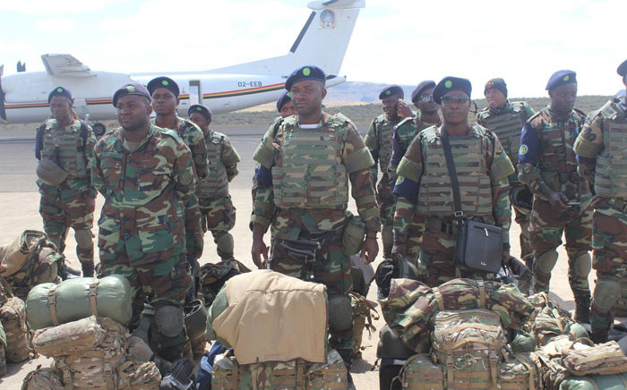 A group of Angolan soldiers packing their belongings in preparation to return back home following the closure of SAMPIL mission in Lesotho. Picture: @SADC_News/Twitter