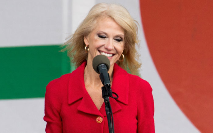 FILE: White House counsellor and spokesperson Kellyanne Conway. Picture: AFP