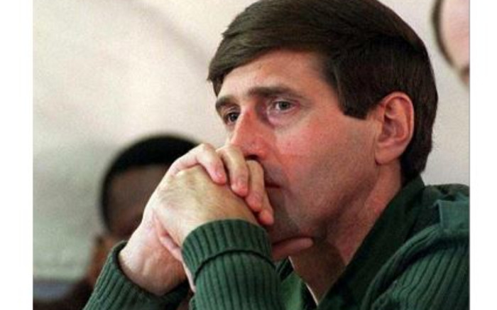 FILE: Eugene de Kock at the amnesty hearing of two former Vlakplaas operatives at the Truth and Reconciliation Commission, 17 November 1997. Picture: AFP.