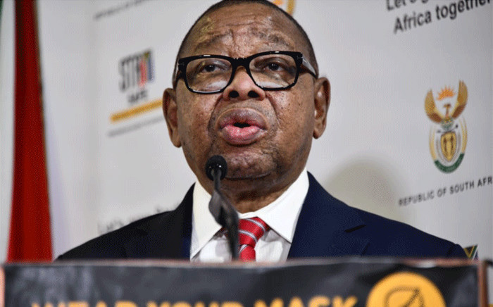 FILE: Higher Education Minister Blade Nzimande at a media briefing on 18 January 2021. Picture: GCIS.