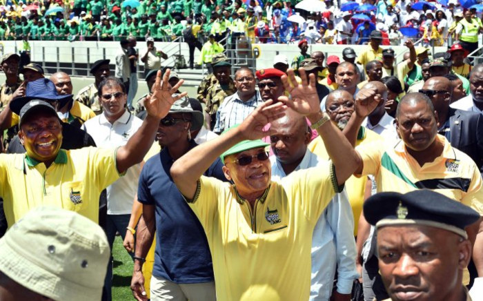 President Zuma addresses crowds at the 103rd ANC Anniversary at Cape Town Stadium on 10 January 2014. Picture: Elmond Jiyane.