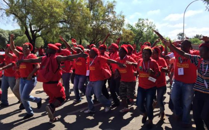 FILE: EFF supporters sing and dance at the party's inaugural conference in Bloemfontein. Picture: Govan Whittles/EWN.
