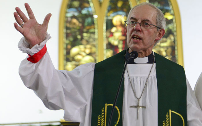 FILE: Archbishop of Canterbury Justin Portal Welby gestures as he delivers a speech during his visit at a church in Amritsar on 10 September 2019. Picture: AFP