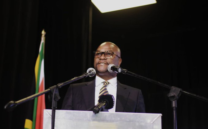 Arts and Culture Minister Nathi Mthethwa speaking at Nomhle Nkonyane's funeral in Port Elizabeth on Friday 19 Ju;y 2019. Picture: @NathiMthethwaSA/Twitter.
