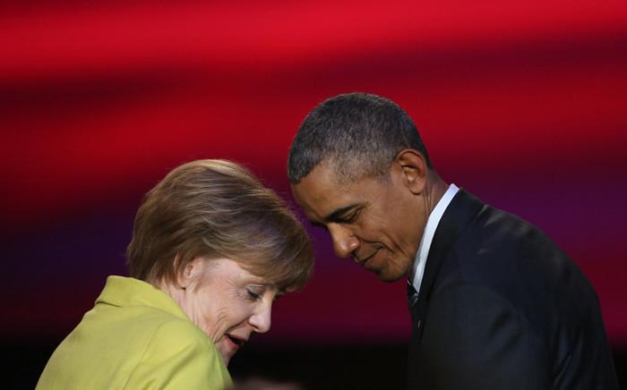 FILE: US President Barack Obama and German Chancellor Angela Merkel.Picture: AFP.