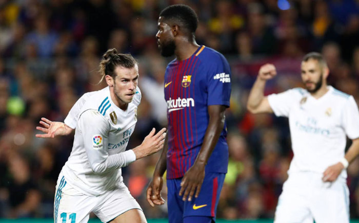 Real Madrid's Gareth Bale celebrates scoring against Barcelona in their La Liga clash on 6 May 2018. Picture: @realmadridfra/Twitter
