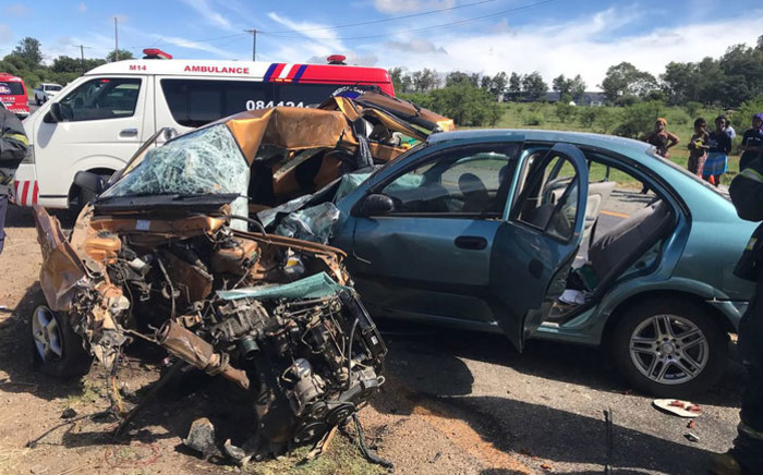 The scene of an accident near Rustenburg on 25 December 2017. Picture: @ER24EMS/Twitter