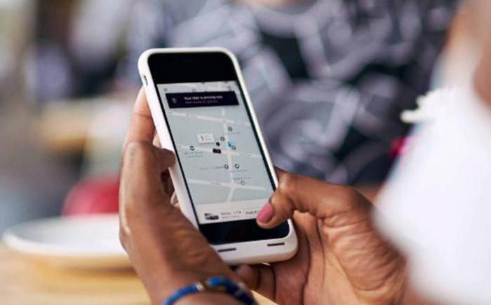 The Uber app. Picture: @Uber_RSA/Twitter