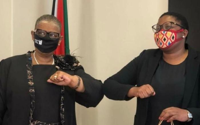 Zandile Gumede (left) with KZN Legislature Speaker Nontembeko Boyce (right). Picture: Supplied