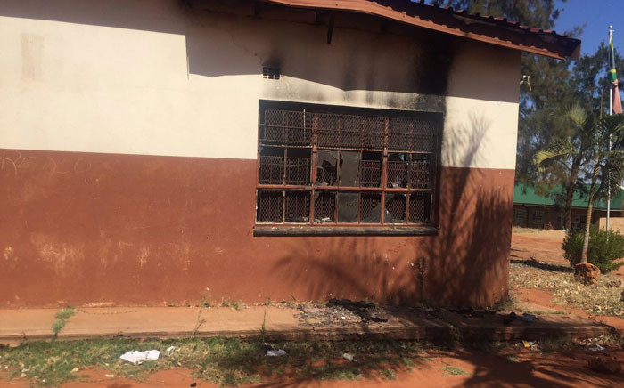 Tshinavhe Secondary School in Vuwani is one of the schools damaged during protests in the area earlier this year. Picture: Masa Kekana/EWN.