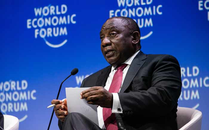President of South Africa Cyril Ramaphosa at the Forum World Economic Forum on Africa 2019 on 5 September‎ ‎2019. Picture: World Economic Forum/Benedikt von Loebell