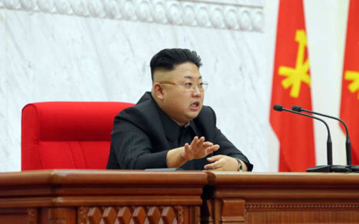 FILE:North Korean leader Kim Jong-Un attending a meeting of the Political Bureau of the Central Committee of the Workers' Party of Korea in Pyongyang on 8 April 2014. Picture: AFP.