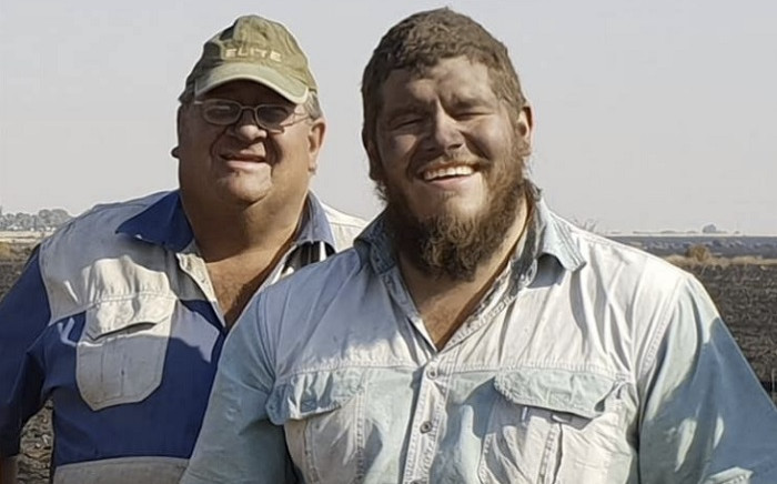 Pieter Hills (L) and his son Eddie. Picture: Virtual memorials - South Africa Attacks and Their Stories/Facebook