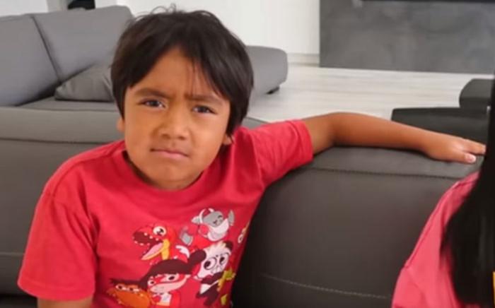 A YouTube screengrab of Ryan Kaji during an episode of his show 'Ryan's World'.