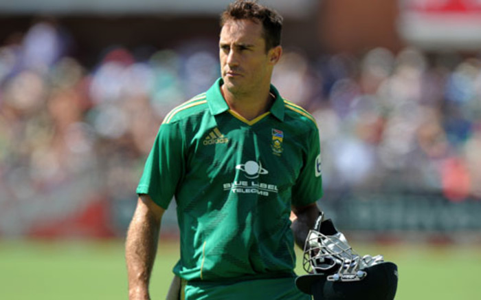 FILE: Faf du Plessis was named man of the series and best batsman of the series. Picture: AFP.