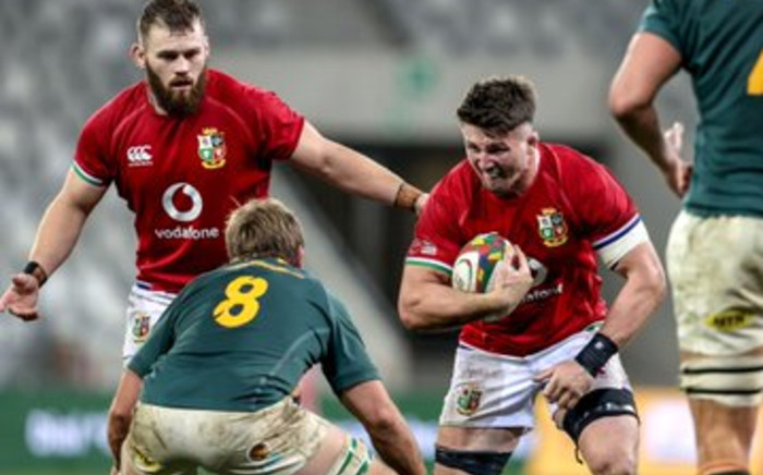 First test match between the Springboks and British and Irish Lions took place in Cape Town  on Saturday, 24 July 2021. Picture: Twitter/@lionsofficial