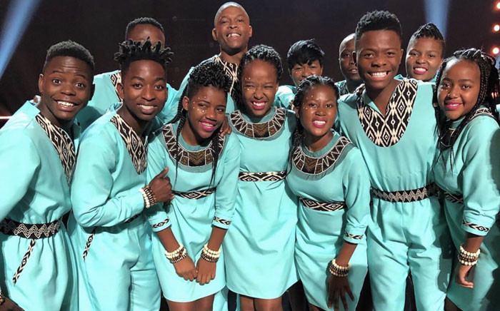 Members of the  Ndlovu Youth Choir pose after reaching the finals of America's Got Talent on 4 September 2019. Picture: @ChoirAfrica/Twitter
